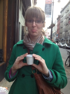 one of the funniest moments of the trip - Carrie ordered a Macchiato in Starbucks fashion, and much to her dismay received a traditional Macchiato (very different)
