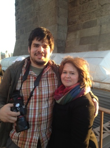 my beloved and me on the Brooklyn Bridge
