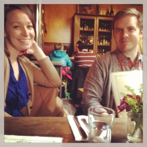had Sunday brunch in Williamsburg with James and Christen - such a treat